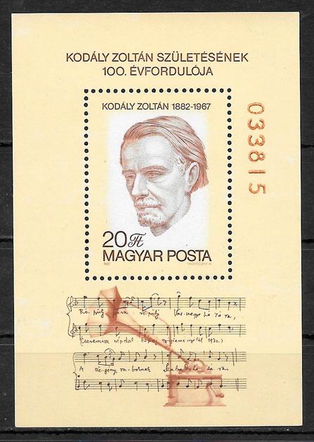sellos arte Hungría 1982