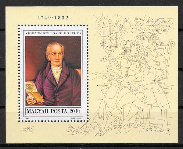 sellos pinturas Hungría 1982