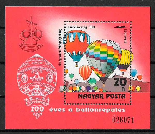 sellos transporte Hungría 1982