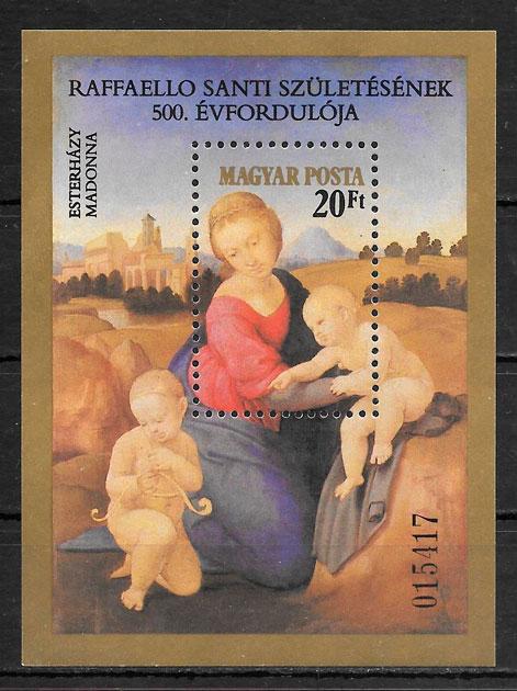 filatelia pintura Hungría 1983
