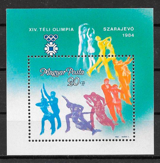 filatelia colección deporte Hungría 1983