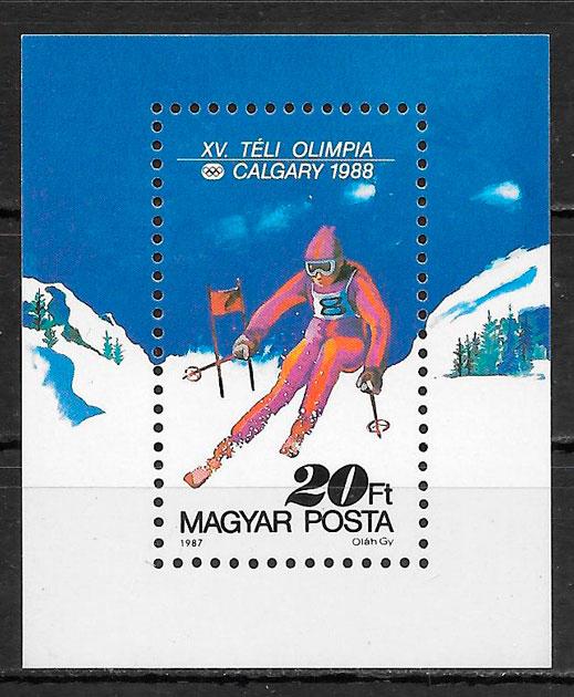 sellos deporte Hungría 1987