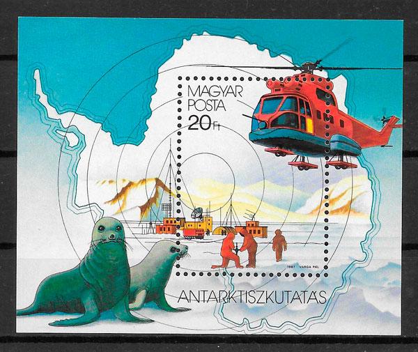 sellos transporte Hungría 1987