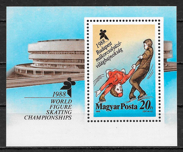 filatelia deporte Hungría 1988