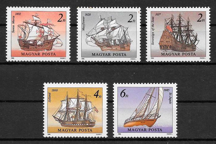 sellos transporte Hungría 1988