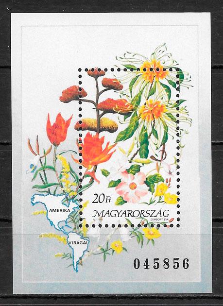 filatelia flora Hungría 1991