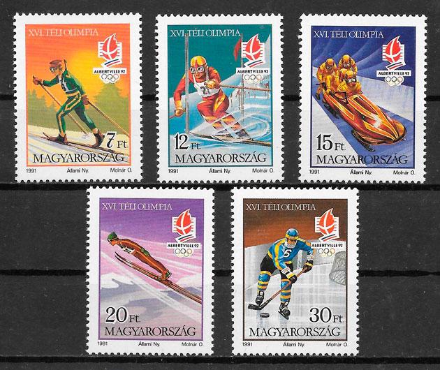 filatelia colección deporte Hungría 1991