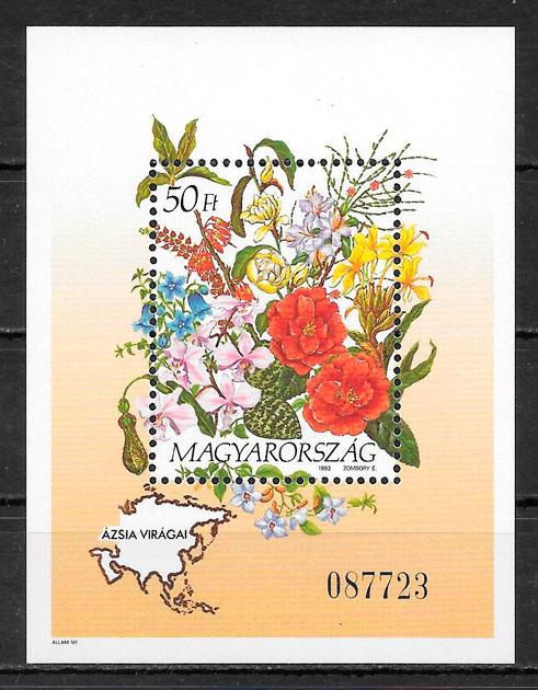 filatelia colección flora 1992