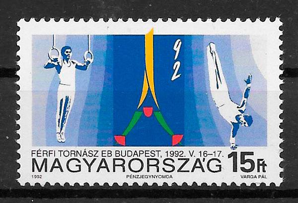 sellos deporte Hungría 1992