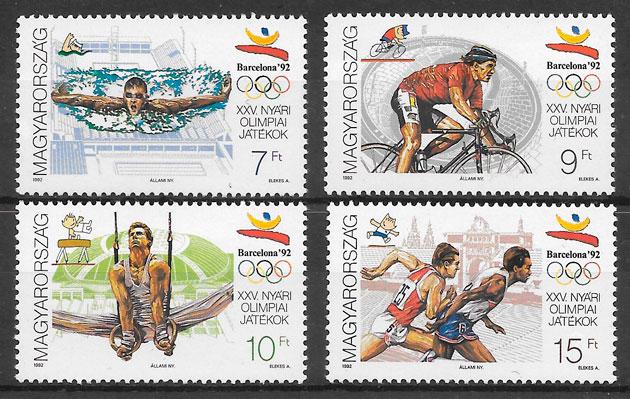sellos olimpiadas Hungria 1992
