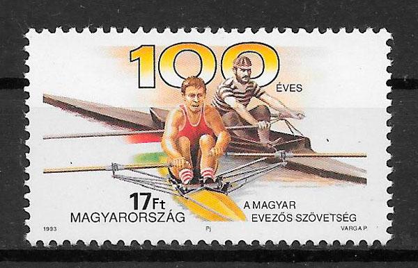 sellos deporte Hungría 1993