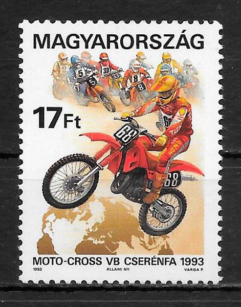 filatelia deporte Hungría 1993