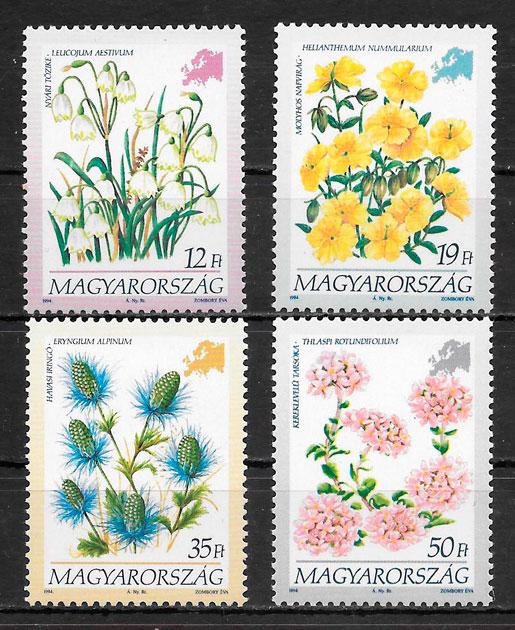 sellos flora Hungría 1994