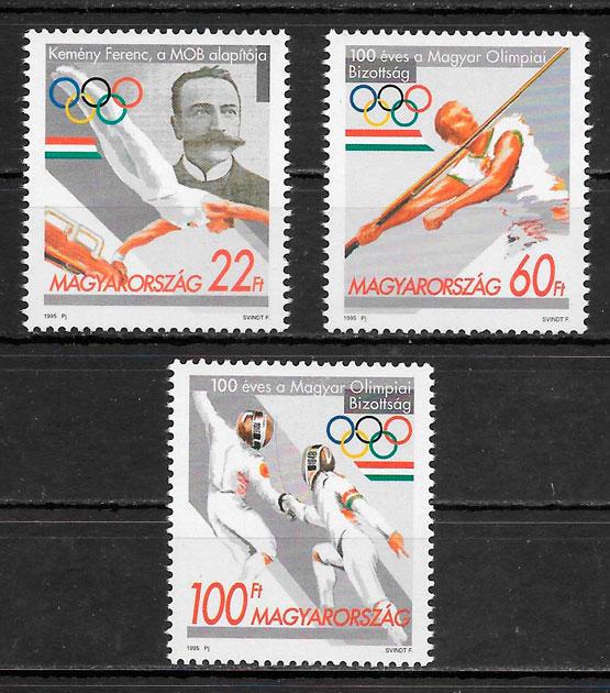 filatelia colección deporte Hungría 1995