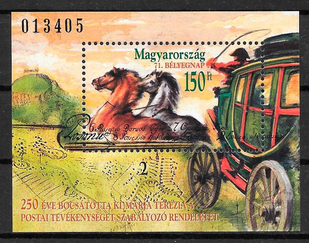 filatelia colección transporte Hungría 1998