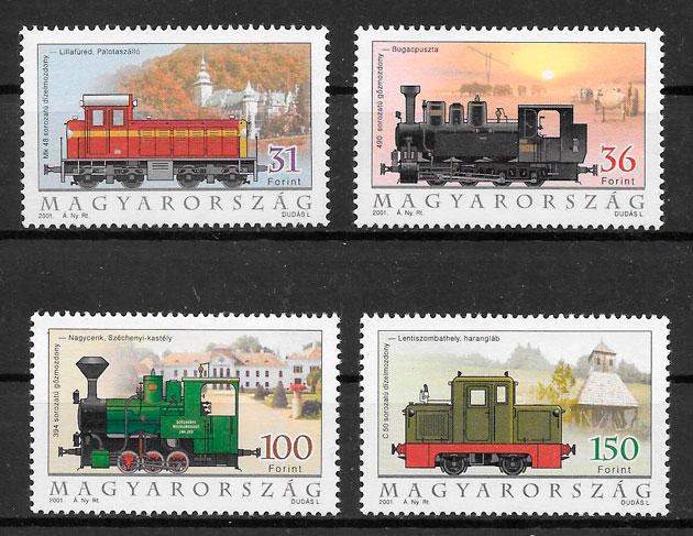 filatelia trenes Hungría 2001