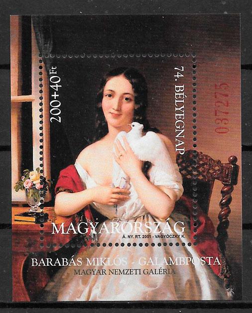 colección sellos pintura Hungría 2001