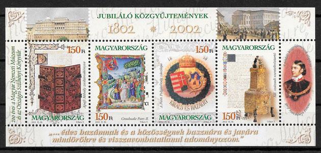 sellos arte Hungría 2002