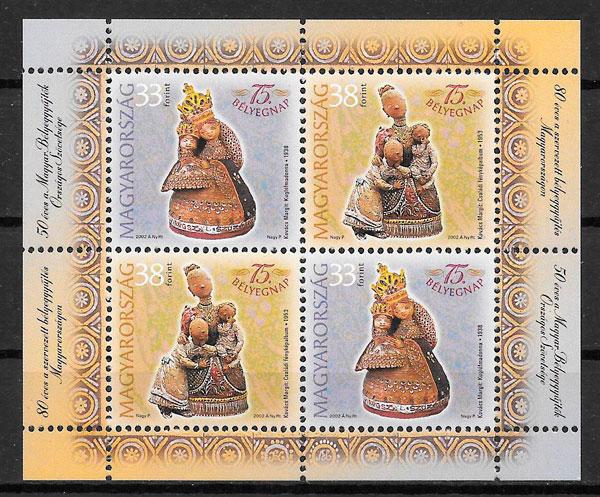 filatelia colección arte Hungría 2002