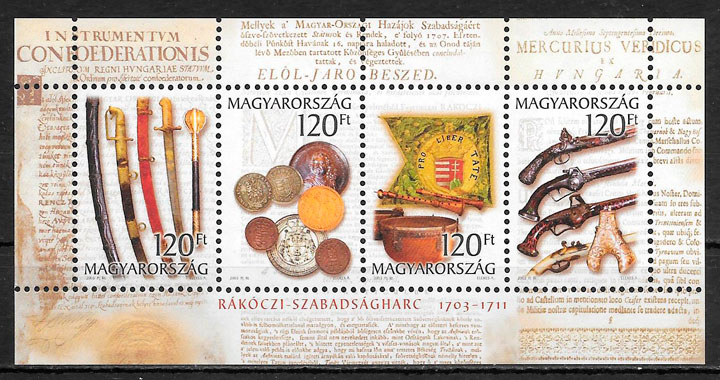 sellos arte Hungría 2003