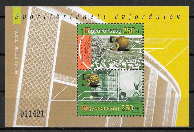 colección selos fútbol Hungría 2003
