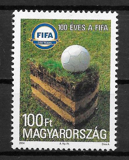 coleccion sellos futbol Hungria 2004