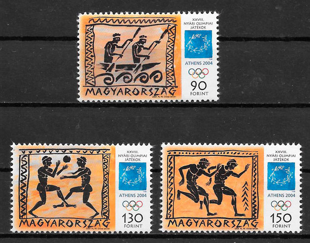 sellos olimpiadas Hungria 2004