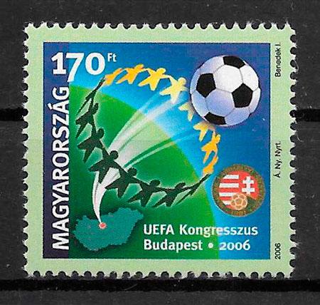 coleccion sellos futbol Hungria 2006
