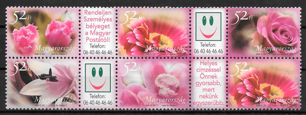 sellos flora Hungria 2006
