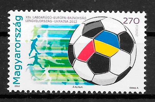 sellos futbol Hungria 2012