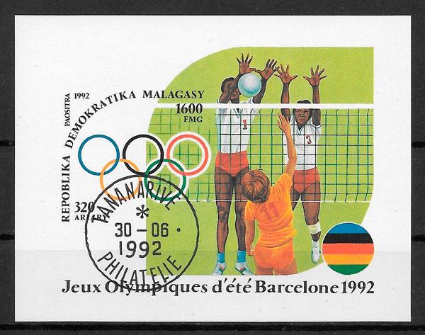 sellos olimpiadas Madagascar 1992
