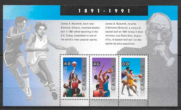 sellos deporte Canada 1991