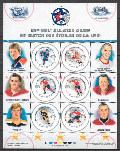 sellos deporte Canada 2000