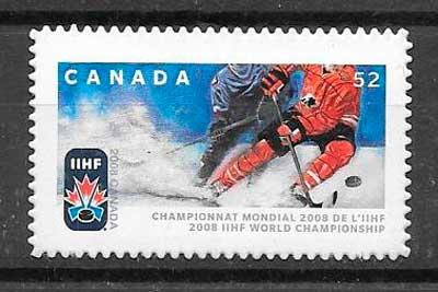 filatelia deporte Canada 2008
