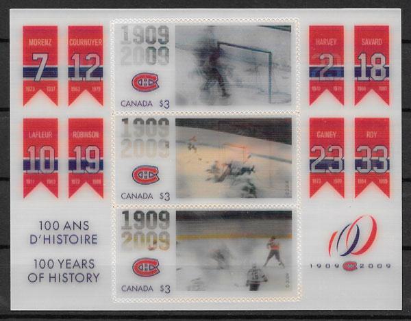 filatelia coleccion sellos deporte Canada 2009