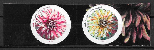 filatelia flora Finlandia 2011