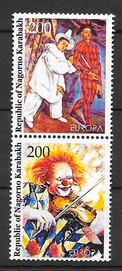 sellos Europa Montañas de Karabac 2002