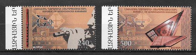 sellos Europa Montañas de Karabac 2014