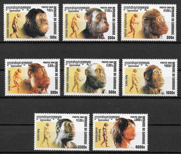 filatelia colección temas varios Camboya 2001