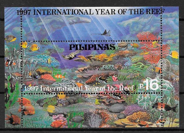 sellos fauna Filipinas 1997