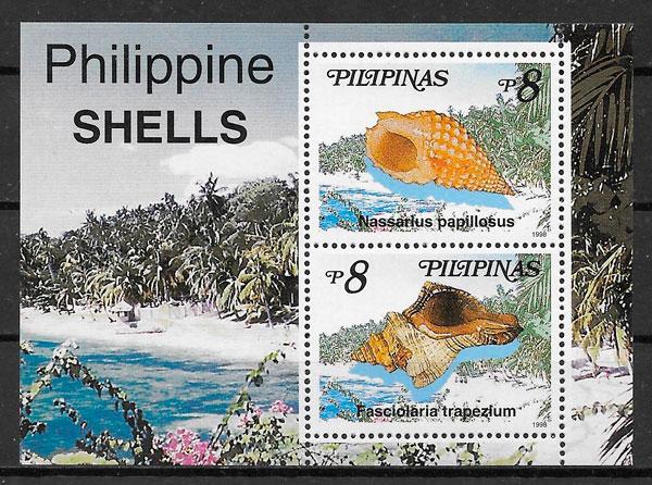 sellos fauna Filipinas 1998