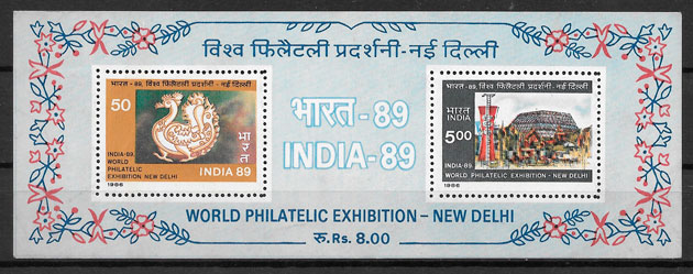 filatelia colección temas varios India 1987