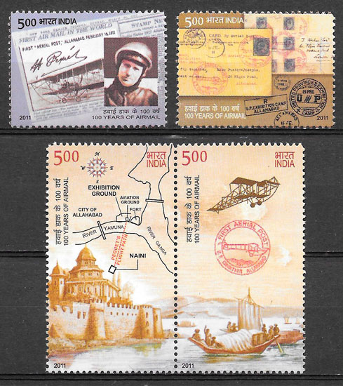 sellos temas varios India 2011