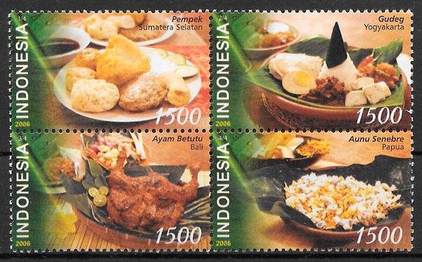 filatelia colección temas varios Indonesia 2006