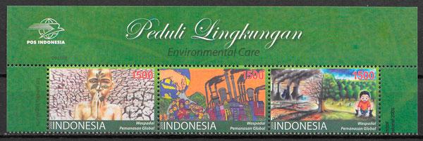 sellos temas varios Indonesia 2009