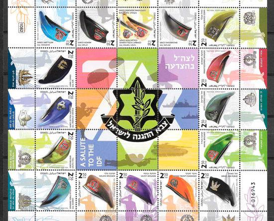 colección sellos Israel temas varios 2018