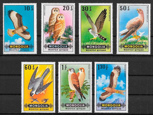 sellos fauna Mongolia 1970