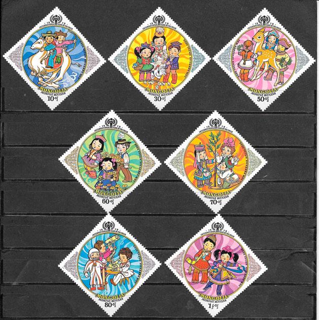 filatelia colección temas varios Mongolia 1979