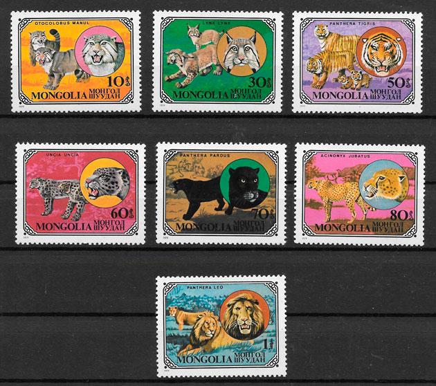 sellos fauna Mongolia 1979