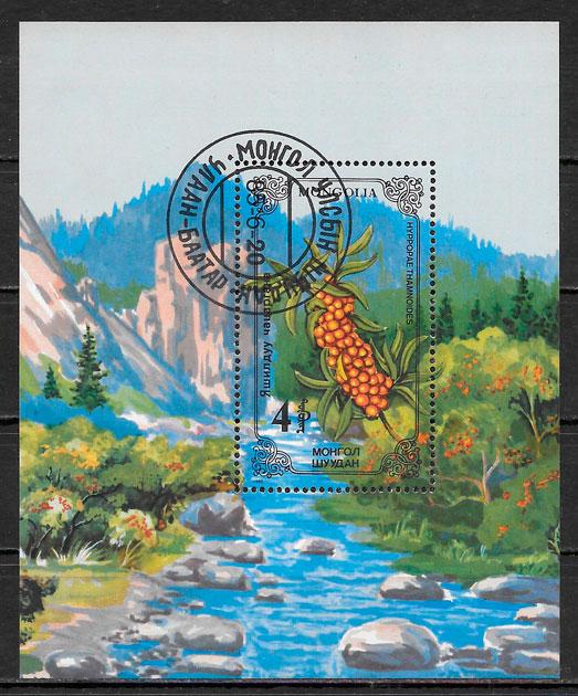 sellos flora Mongolia 1985